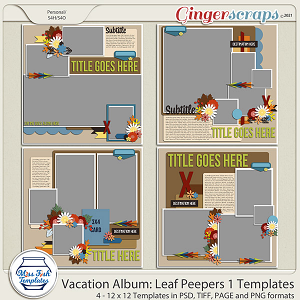 Vacation Album: Leaf Peepers 1 Templates by Miss Fish