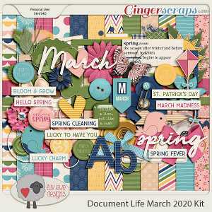 Document Life March 2020 Kit by Luv Ewe Designs