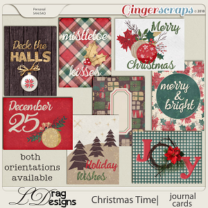 Christmas Time:Journal Cards by LDragDesigns