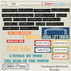 Travelogue Minnesota - Word Bits