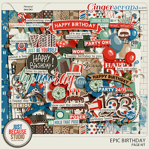 Epic Birthday Page Kit by JB Studio