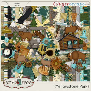 Yellowstone Park Kit - Scraps N Pieces