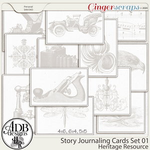 Heritage Resource Story Journaling Cards Set 01 by ADB Designs
