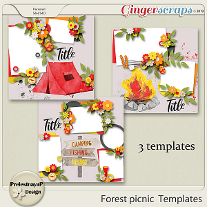 Forest picnic Templates