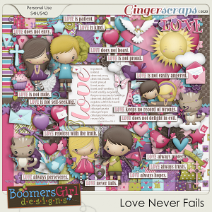 Love Never Fails by BoomersGirl Designs