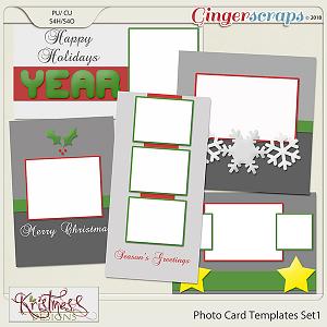 Photo Card Templates Set 1