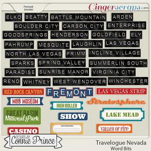 Travelogue Nevada - Word Bits