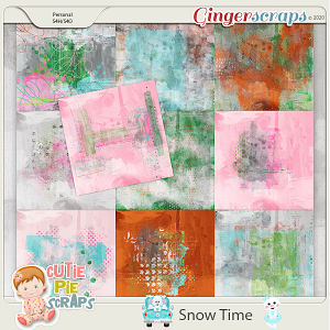 Snow Time Painted Papers
