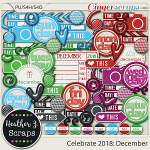 Celebrate 2018: December ACCENTS by Heather Z Scraps