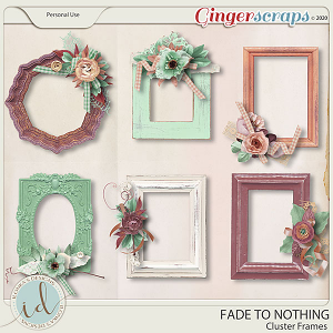 Fade To Nothing Cluster Frames by Ilonka's Designs