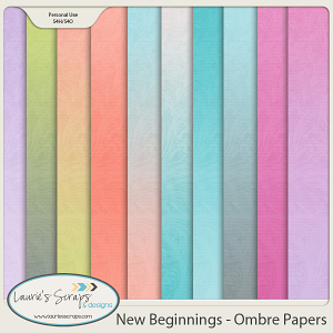 New Beginnings - Ombre Papers