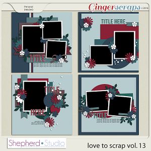 Love to Scrap Volume 13 Templates by Shepherd Studio