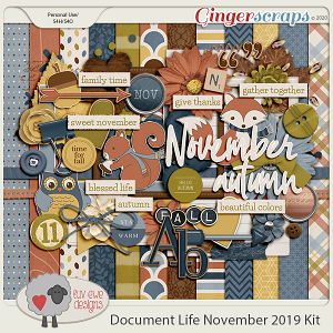 Document Life November 2019 Kit by Luv Ewe Designs