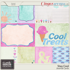 Stay Cool Journal Cards by Aimee Harrison