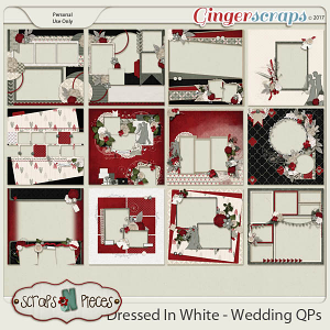 Dressed in White - Wedding QPs by Scraps N Pieces