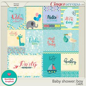 Baby shower: boy - cards