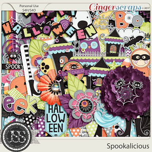 Spookalicious Digital Scrapbook Kit