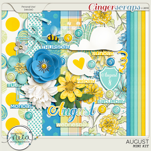 August - Mini Kit - by Neia Scraps