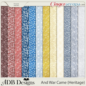 And War Came Heritage Calico Pattern Papers
