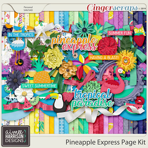 Pineapple Express Page Kit by Aimee Harrison