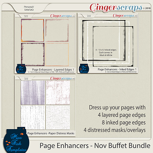 Page Enhancers Bundle - November 2018 by Miss Fish