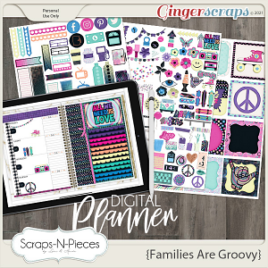 Families Are Groovy Planner Pieces - Scraps N Pieces