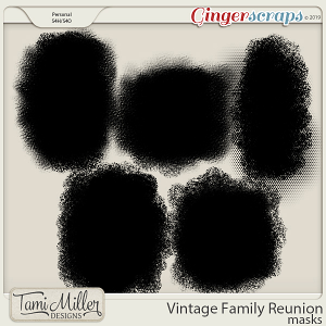 Vintage Family Reunion Masks by Tami Miller Designs