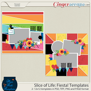 Slice of Life: Fiesta! Templates by Miss Fish