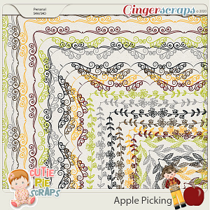 Apple Picking - Page Borders