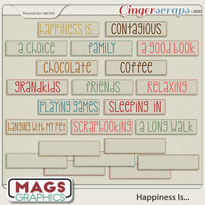 Happiness Is TAGS by MagsGraphics