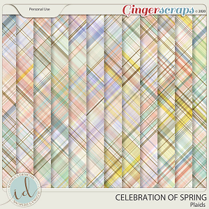 Celebration Of Spring Plaids by Ilonka's Designs
