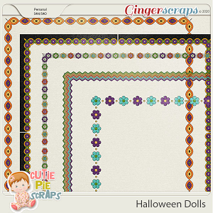 Halloween Dolls-Page Borders