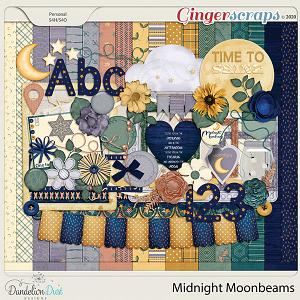 Midnight Moonbeams Digital Scrapbook Collection by Dandelion Dust Designs