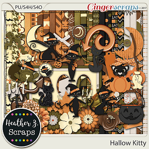Hallow Kitty KIT by Heather Z Scraps