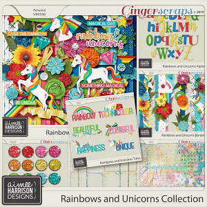 Rainbows and Unicorns Collection by Aimee Harrison