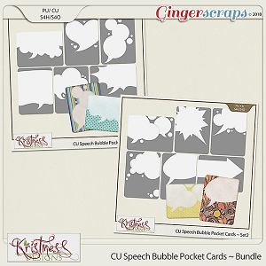 CU Speech Bubble Pocket Card Templates Bundle