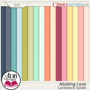 Abiding Love Solid Papers by ADB Designs