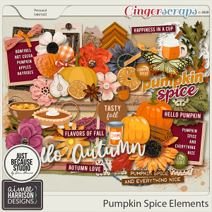 Pumpkin Spice Elements Pack by Aimee Harrison and JB Studio