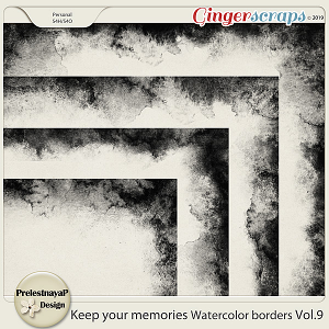 Keep your memories Watercolor Borders Vol.9