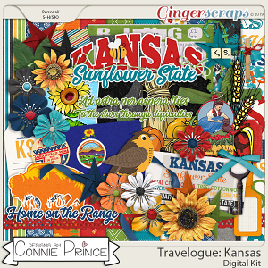 Travelogue Kansas - Kit by Connie Prince