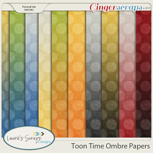 Toon Time Ombre Papers