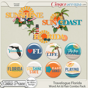 Travelogue Florida - WordArt & Flair Pack
