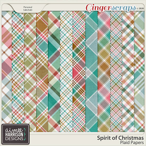 Spirit of Christmas Plaid Papers by Aimee Harrison