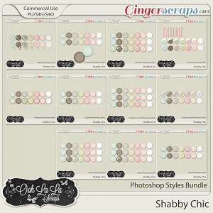 Shabby Chic CU Photoshop Styles Bundle