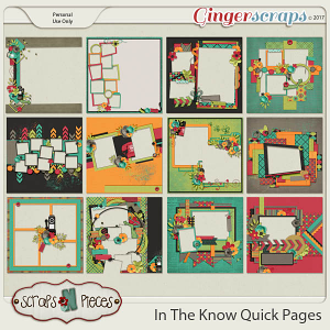 In The Know Quick Pages by Scraps N Pieces