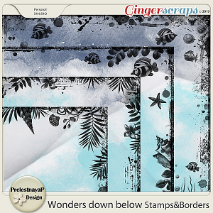 Wonders down below Stamps&Borders