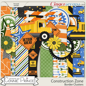 Construction Zone - Border Clusters by Connie Prince