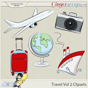 Doodles By Americo: Travel Vol 2 Cliparts