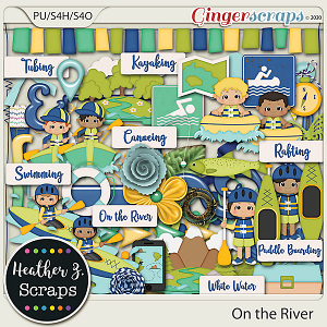 On the River BOY ELEMENTS by Heather Z Scraps