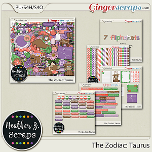 The Zodiac: Taurus BUNDLE by Heather Z Scraps